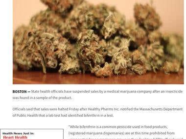 Medical marijuana dispensary shut down after insecticide fou