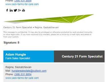 Email Signature for Adam Hungle