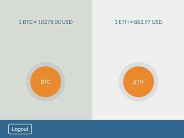 Cryptocurrency Interface (GDAX)