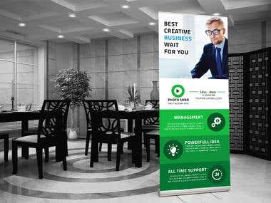 Creative Roll-up Banner Design