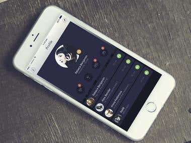 Social Media mobile App UI design
