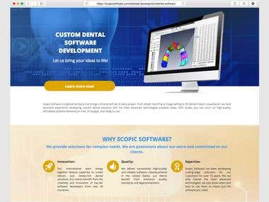 Landing Page: Custom Dental Software