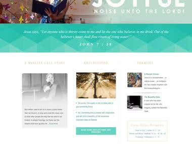 responsive wordpress website from psd