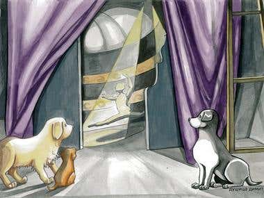 """Illustration from picture book """"Ballet"""""""