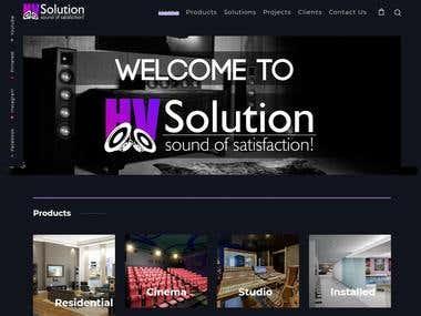 High-end website for HV Solution
