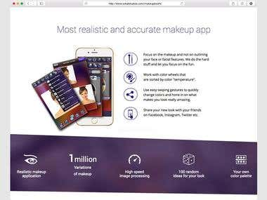 Landing Page: iMakeUp Booth