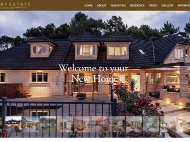 One Page Property Showcase Website