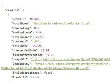 Agoda - API creating - Complex API