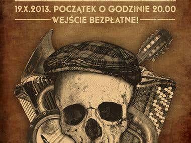 Poster design for a folk-punk gig