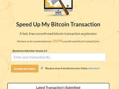 SpeedUp My Bitcoin Transaction – Web Application (PHP)