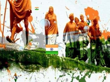 Live wall paper - indian flag