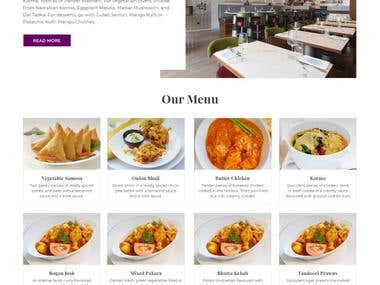 Website of a Restaurant