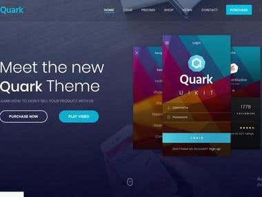 Quark Website Theme for App