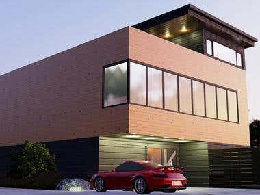 3D modern exterior design