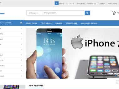 Mobile Phone Ecommerce Website