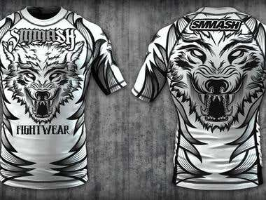 Rashuard design for SMMASH Fightwear