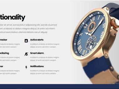 Opal Watch website template