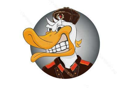 Angry Russian Duck logo contest