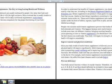 Medical articles (samples)
