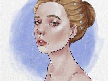 Aquarelle girl