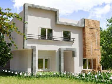 3d Modern exterior design project