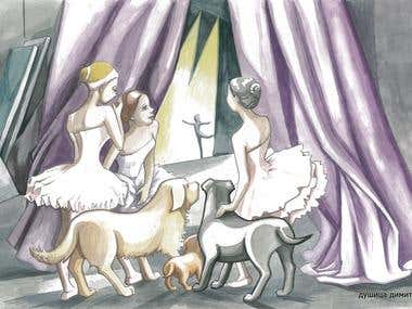 "Illustration from picture book ""Ballet"""