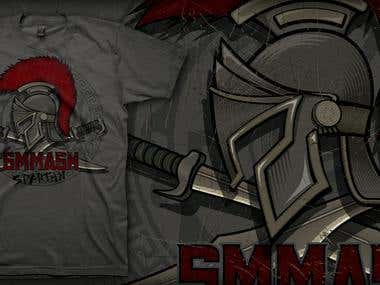 T-shirt design for SMMASH Fightwear