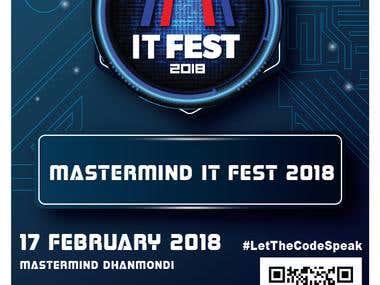 Mastermind IT FEST 2018 Poster