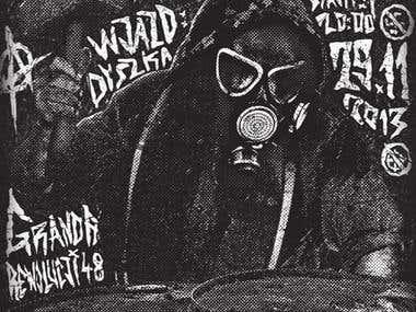 Poster design for a punk concert