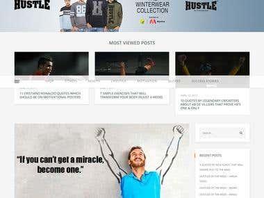 Blog installation & development for Hustle