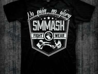 T-shirt design for SMMASH Fightwear