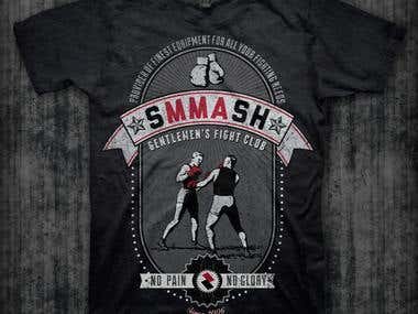 T-shirt design for SMMASH Fighwear