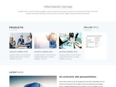 Diseño sitio web en WP
