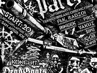 Poster design for a punk gig