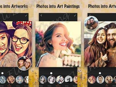 Cartoon Photo Filters App