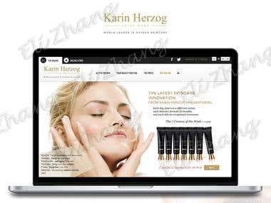 Karin Herzog Responsive Website