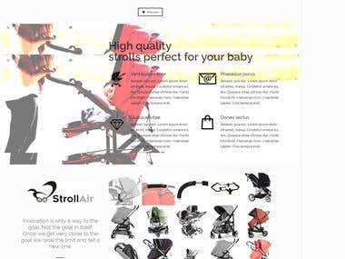 E-Commerce Website for Stroll Air