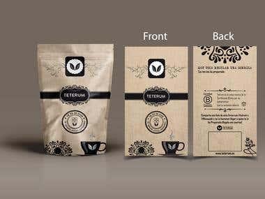 Design the new teterum tea packaging