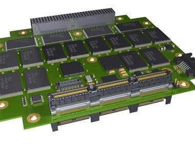 PCB Layout & 3D model for PC104e SSD