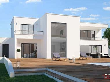 modern villa.