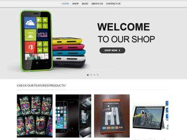 WordPress E commerce Website