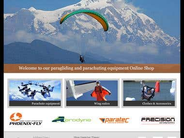 Wingstore parachuting and sky diving equipment