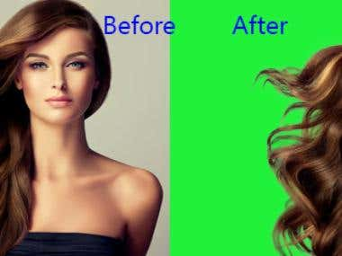 Clipping Path/Hair Masking/Background Removing