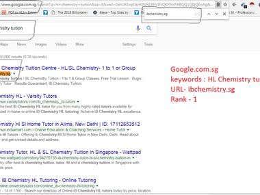 keywords : hl chemistry tuition