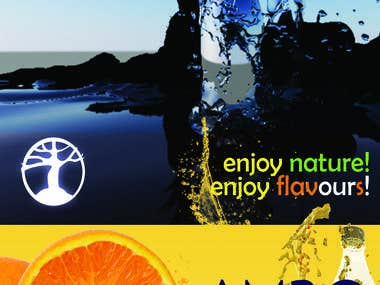 Soft drink company poster ad