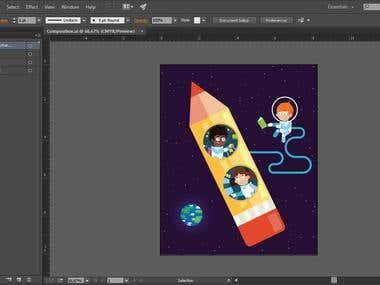 Flat Space Illustration