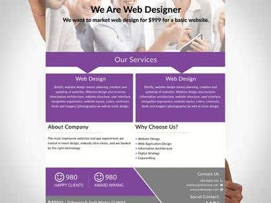 One Page Flyer Design