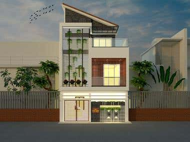 Elevation design small house