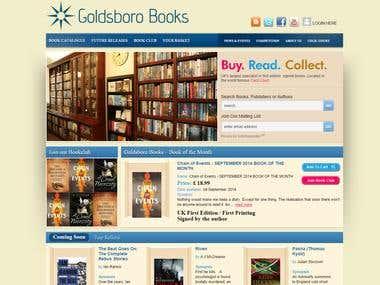 Custom eCommerce cms for books shop