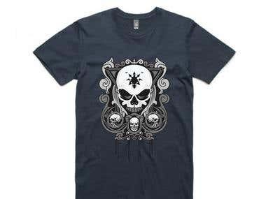 Skull T-shirt design